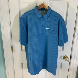 Columbia Button Front  Short Sleeve Shirt